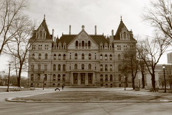New York State Capitol From Outside