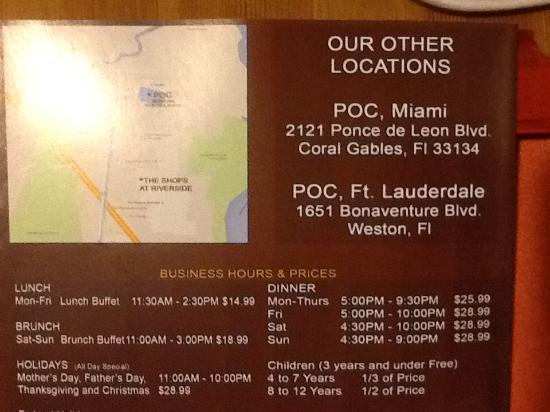 brochure 2 picture of poc american fusion sushi buffet rh tripadvisor in poc buffet miami price POC Sushi Miami