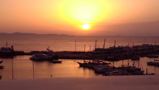 Olia Hotel: Sunset over Aegean