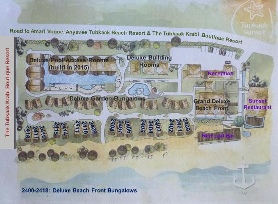 Room Plan Resort Map Of Tup Kaek Sunset Beach