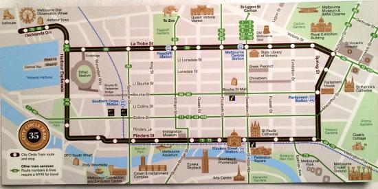 Route Map of City Cirlce Tram Picture of City Circle Tram