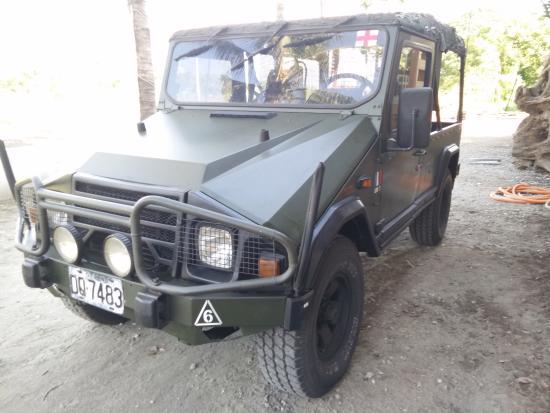 Taroko Aluwa homestay : 法國軍用吉普車
