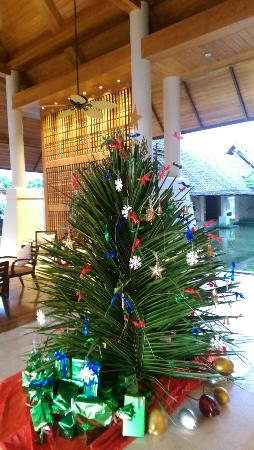 Nice Christmas tree made of coconut leaves. - Picture of Hilton ...