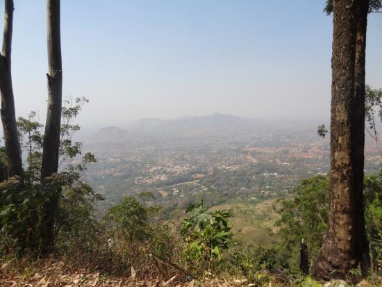 View at Zomba from nearby mountain