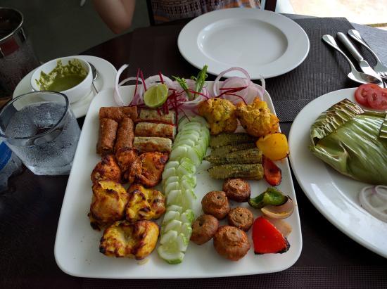 Park Regis Aveda Kumarakom: Mixed kebab platter tailored as requested