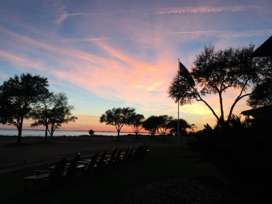 The Lodge at Sea Island: Bagpipes at Sunset