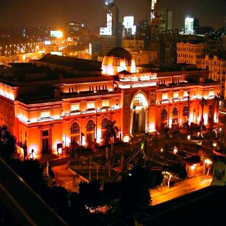 Egyptian Night Hotel: Egyptian Museum (Night view from our balcony)