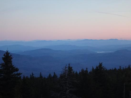 Mount Kearsarge: Moon set
