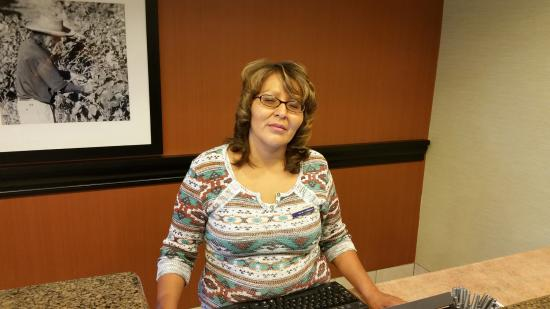Hampton Inn Gallup-West : Audrey at the front desk always smiling.