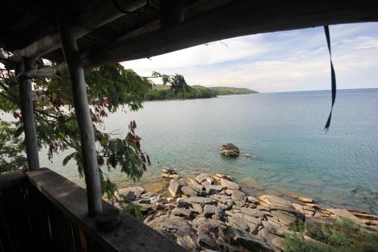 Nkhata Bay, Malawi: View from beach hut.