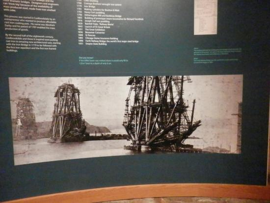 Coalbrookdale, UK: The construction of the impressive Forth Rail Bridge near Edinburgh was only possibly with iron