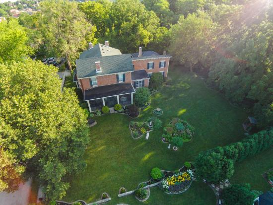 Overhead view of Aldrich Guest House