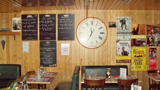 Brasserie du cadran : les menus et plats affichés