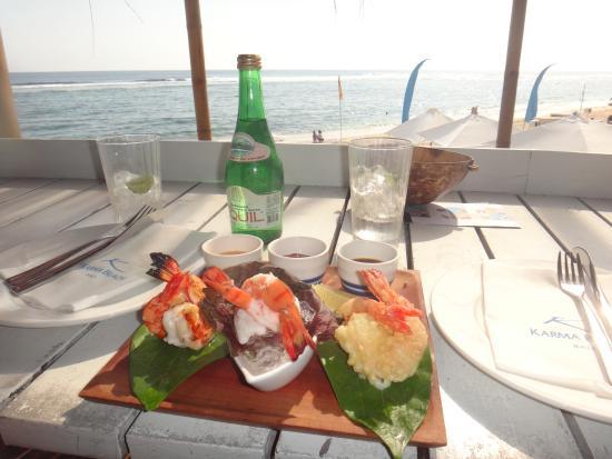 Karma Beach Bali Restaurant: shrimps appetizer
