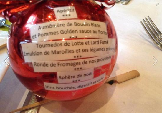 Menu De Noel Lotte.Menu Du Repas De Noel Photo De Le Manoir De La Canche