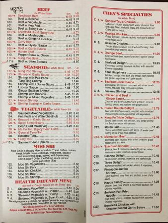 Sagamore Beach, MA: Menu