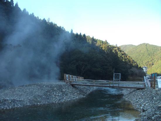 川湯温泉, 仙人風呂・遠景