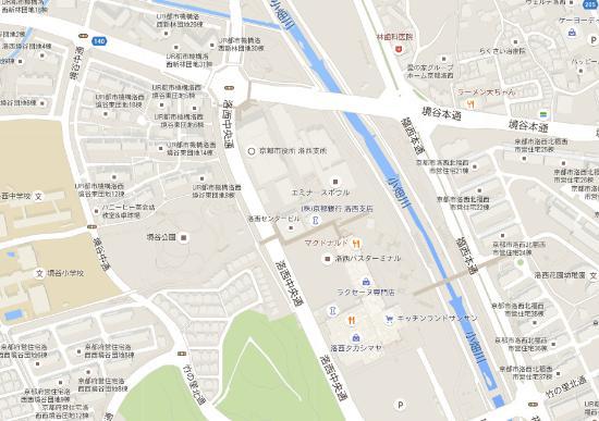 Hotel Kyoto Eminence: 地図を載せておきます。中央のエミナースボウルがスパ棟、その北側がホテル棟です
