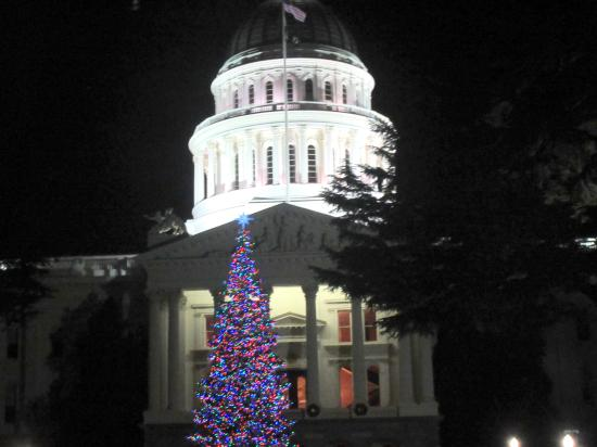 christmas tree california capitol building sacramento ca