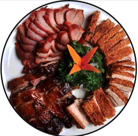Happy Garden Chinese Restaurant Roast Duck Bbq Pork And Roast Pork Plate
