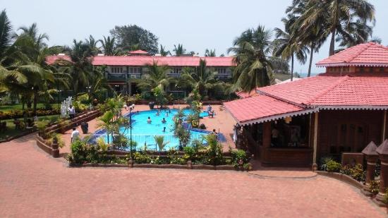Hotel Goan Heritage: view of pool from room