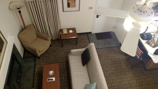 Hawthorn Suites By Wyndham Fishkill/Poughkeepsie Area: Was upgraded from a regular room which I loved to this which my daughter loved... Great room lov