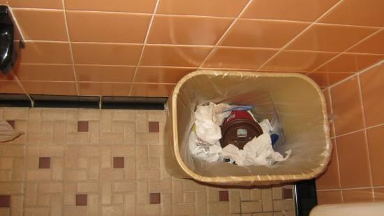 Scottish Inns Potsdam: garbage from previous guest