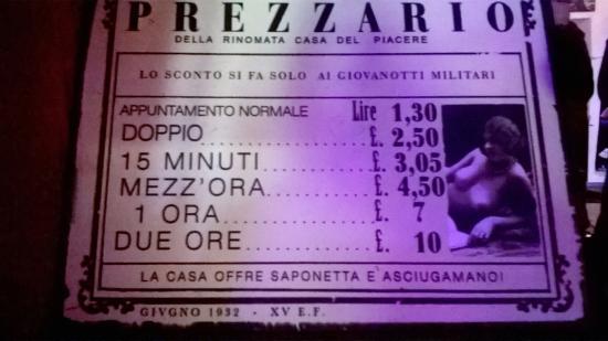Rock Cafe': Prezzario