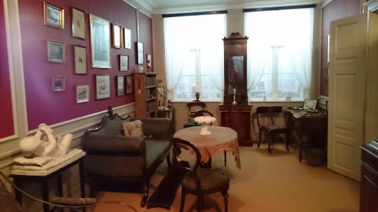 Hans Christian Andersen Museum: Reconstrução do quarto de familiares de HC Andersen