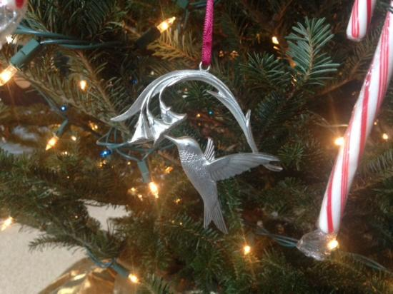 amos pewter beautiful hummingbird ornament
