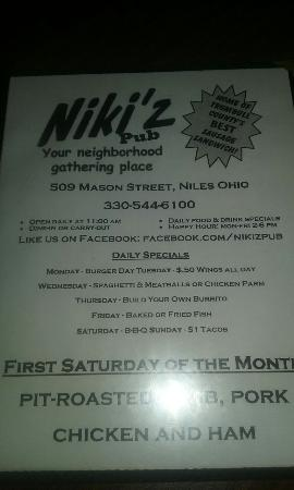 Niles, OH: Niki'z Pub