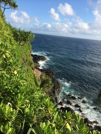Haiku, Hawaï: View from the Path on the way to the beach