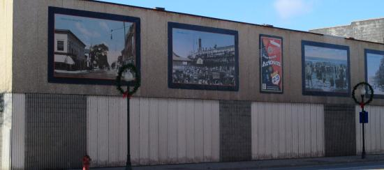 Pictures of Old  Alpena on the wall of the Royal Knight Theater