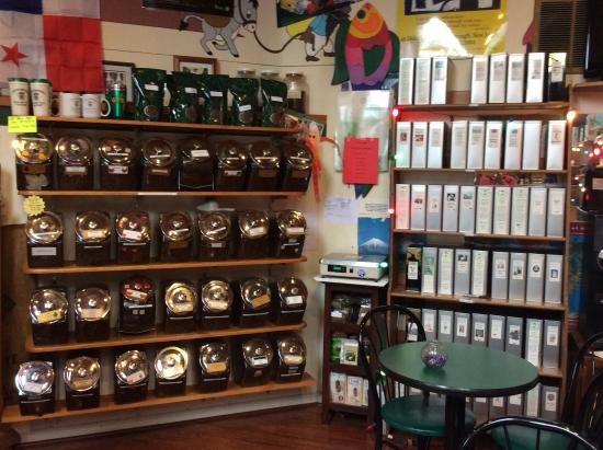 Hackettstown, NJ: Greene's Beans - sample of gourmet coffees and teas