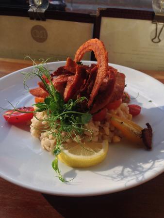 Kingston, estado de Nueva York: Bacon tomatoe seafood risotto
