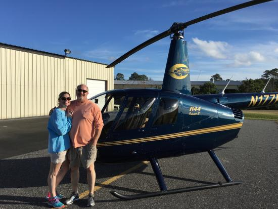 Manteo, Carolina del Norte: Us and the helicopter