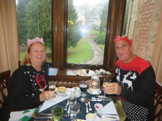 Auldgirth, UK: Tucking into Christmas Dinner