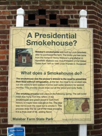 Lucas, OH: Smokehouse sign