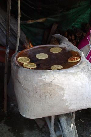 San Juan Cosala, Mexico: Tortillas and Pelliscadas