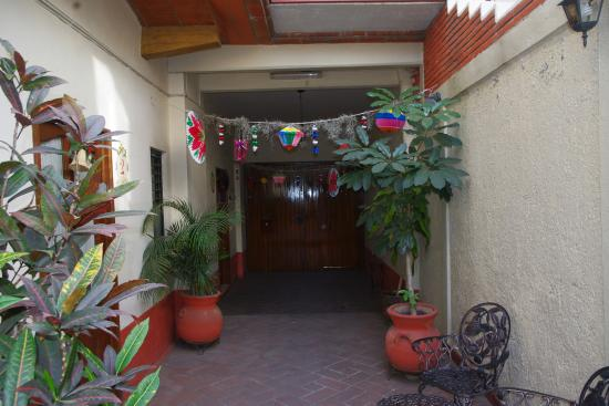 Al Sol Studios: Courtyard Entry to studios