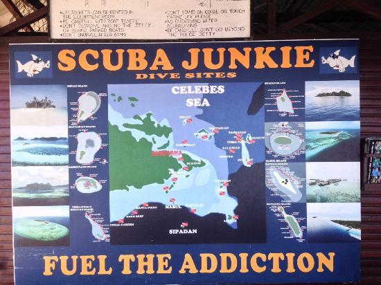 Scuba Junkie Mabul Beach Resort: map
