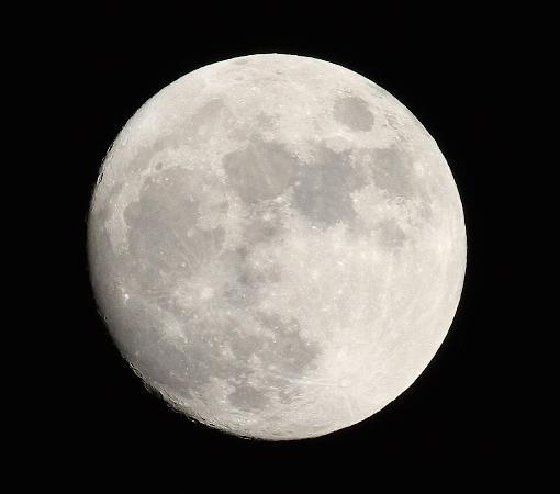 Cazadero, Kalifornia: Full Moon Over the Dreamery Cabin