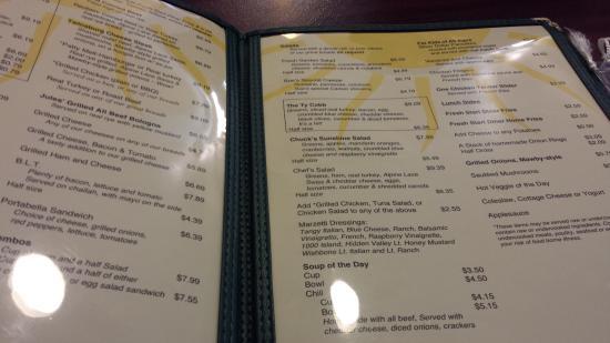 Macedonia, OH: menu 2