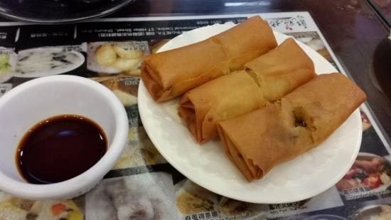 Dim Sum Square Spring Rolls With Worcestershire Sauce