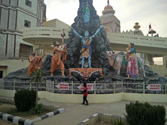 Lord Shiva Statue on extreme left of Agroha Dham Temple