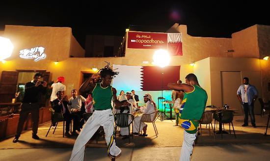 Al Wakra, Qatar: Brazilian capoeira