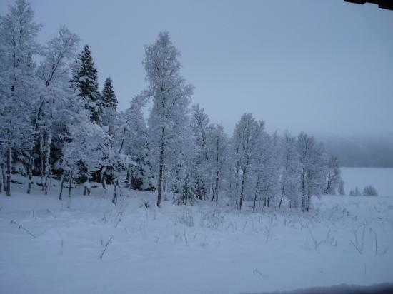 Borgafjall, สวีเดน: vue des chalets