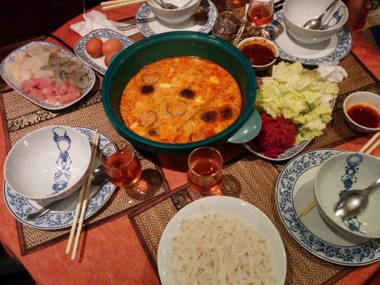 Entr e tha salade aux crevette la tha landaise - Fondue vietnamienne cuisine asiatique ...
