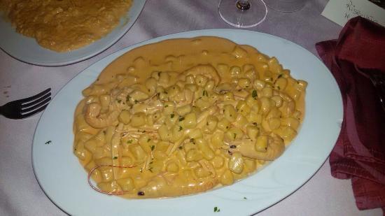 Ripi, איטליה: Gnocchetti e risotto alla crema di scampi