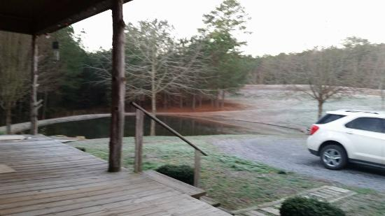 Collinsville, AL: front/pond at cabin